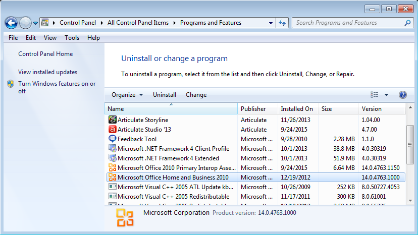 office 2010 uninstall tool