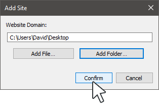 Add Folder Location in Internet Explorer